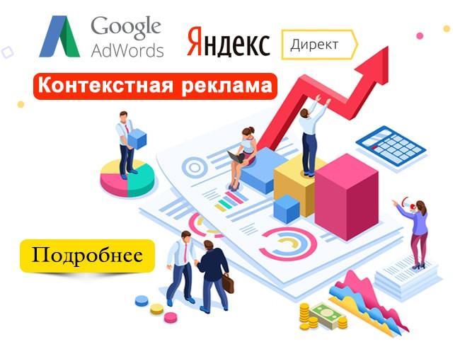 Контекстная реклама, Google Ads, Яндекс Директ